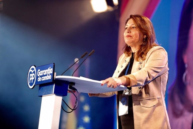 Carmen Crespo interviene en la Interparlamentaria del PP en Sevilla