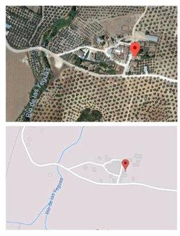 Ubicación del Cortijo de Jarilla, en Casariche