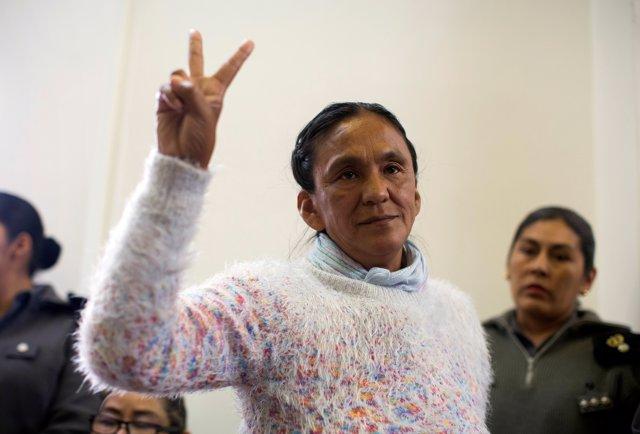 La activista sindical indígena Milagro Sala