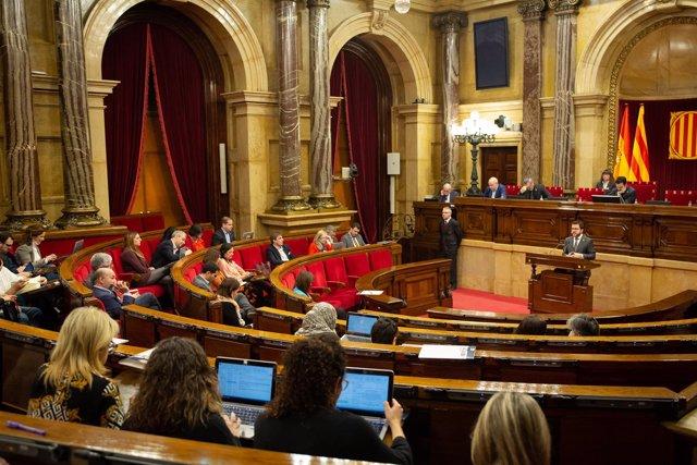 Reaunudación del Pleno en el Parlament de Catalunya