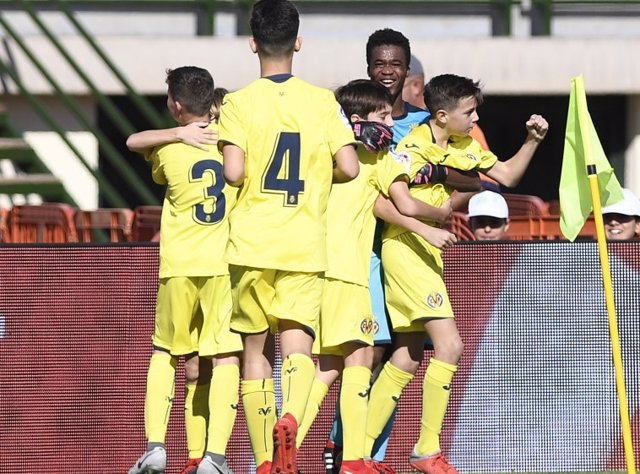 Los jugadores del Villarreal, en el torneo de LaLiga Promises