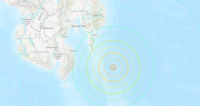 Registrado un terremoto de magnitud 7,2 en el sur de Filipinas