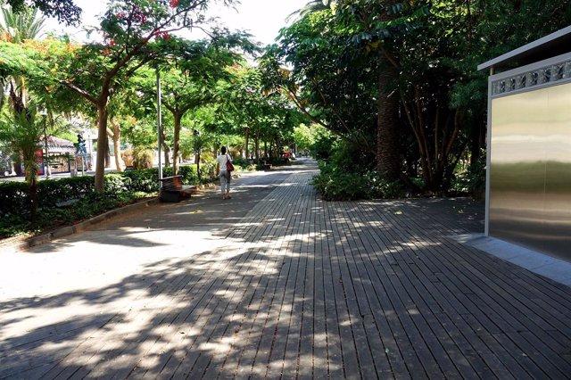 Paseos de madera del Parque García Sanabria