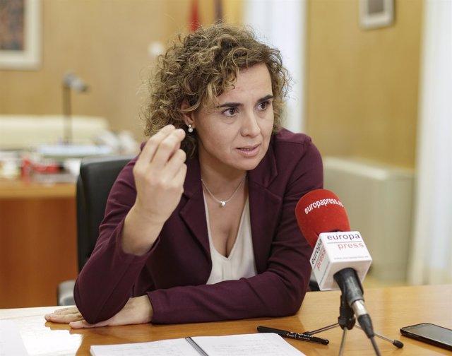 Entrevista de Europa Press a la portavoz del Grupo Popular en el Congreso, Dolor