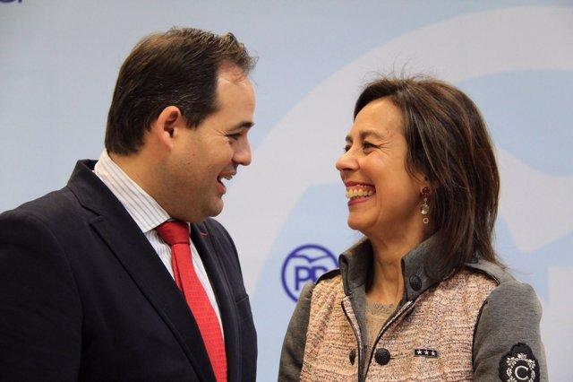 Paco Núñez y Luz Moya, candidata del PP a la Alcaldía de Cuenca