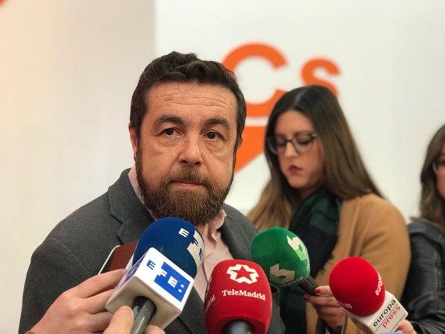 Miguel Gutiérrez, de Ciudadanos, apoya los PGS 2018