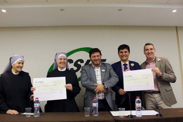 CSIF entrega la recaudación de la lotería a las Hermanitas de los Pobres