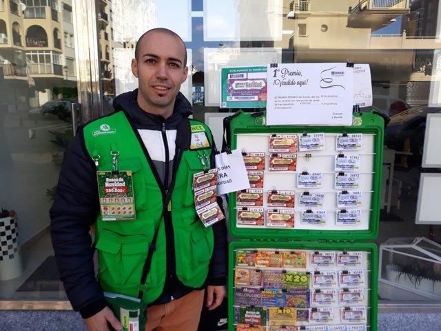 El vendedor de la ONCE Luis Pino Fernández