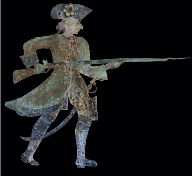 La veleta 'El Miguelete' de la Fábrica de Artillería