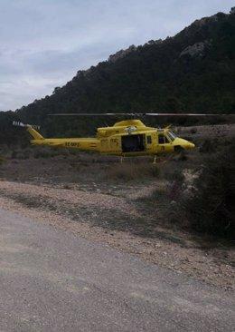 Rescate de un escalador en Elda