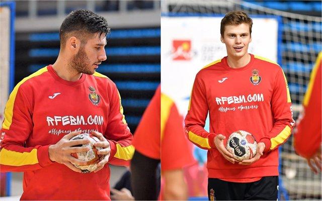 Abel Serdio y Sergey Hernández, jugadores de la selección española de balonmano