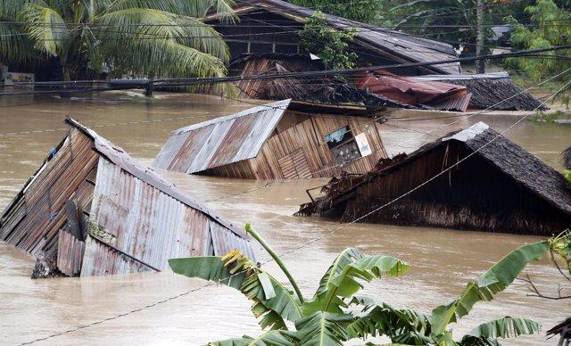Inundaciones en Filipinas tras el paso de una tormenta tropical