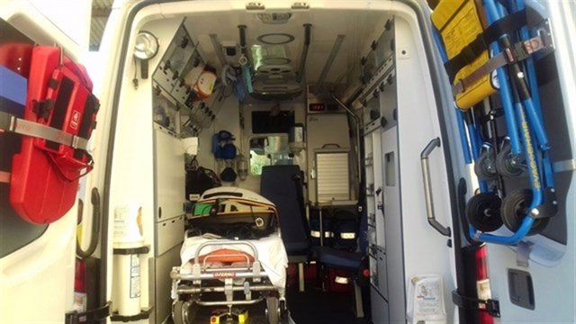 Interior de una ambulancia