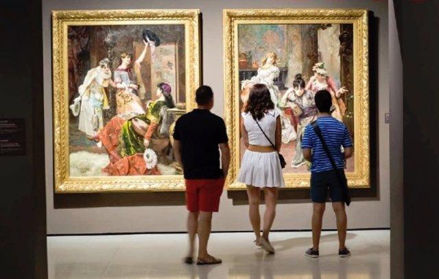 Exposición de arte en el MNAC