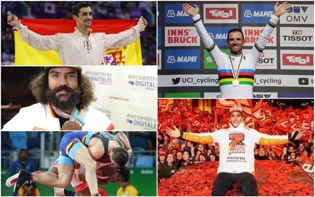 Protagonistas del deporte español masculino en 2018