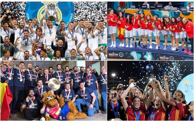 Logros por equipos del deporte español en 2018