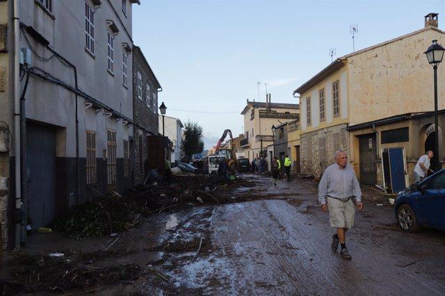 Sant Llorenç tras las intensas lluvias