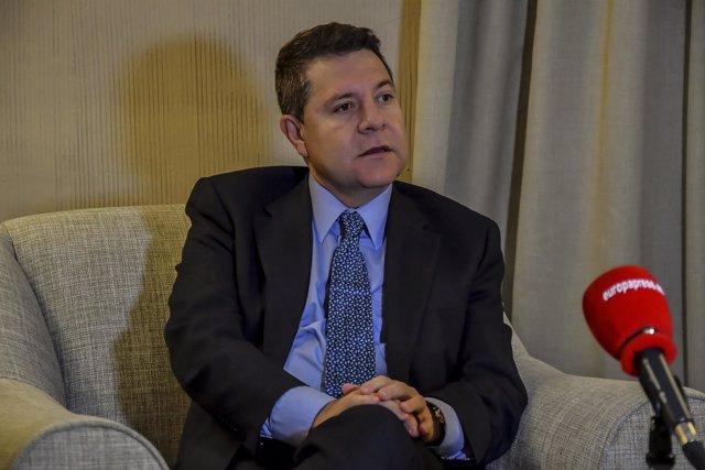 Entrevista de Europa Press al presidente de Castilla-La Mancha, Emiliano García-
