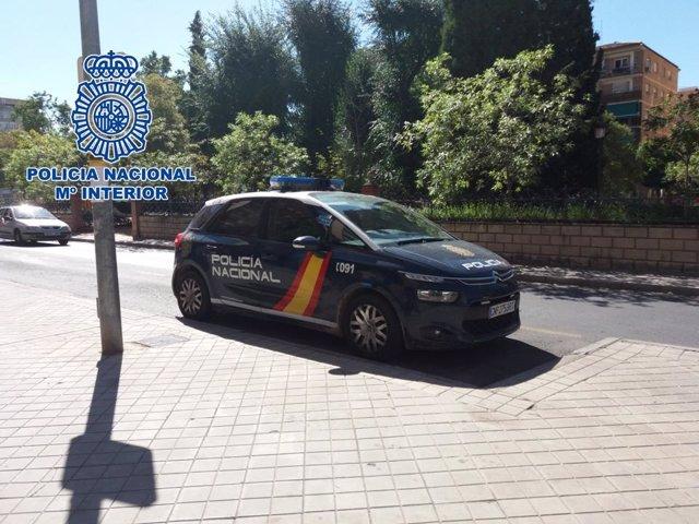 Coche patrulla de Policía Nacional