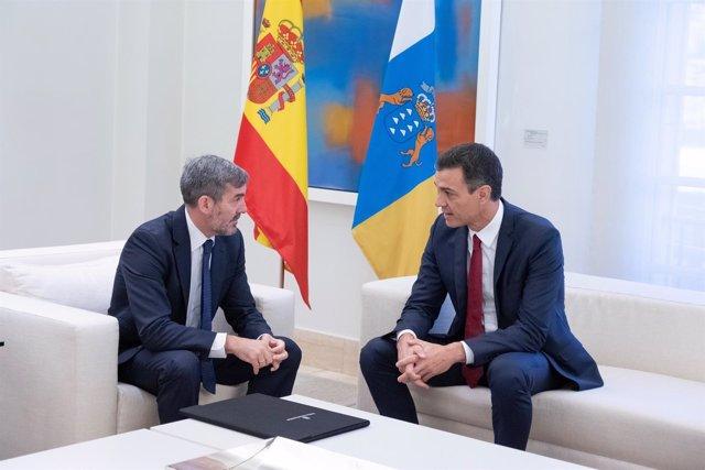 Primera reunión entre Fernando Clavijo y Pedro Sánchez