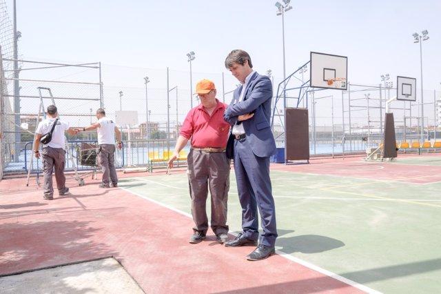 Actuación en una instalación deportiva de Sevilla