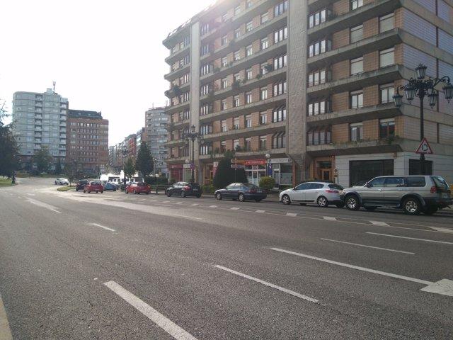 Tráfico, coches, carretera, entrada a la A-66, Plaza de Castilla