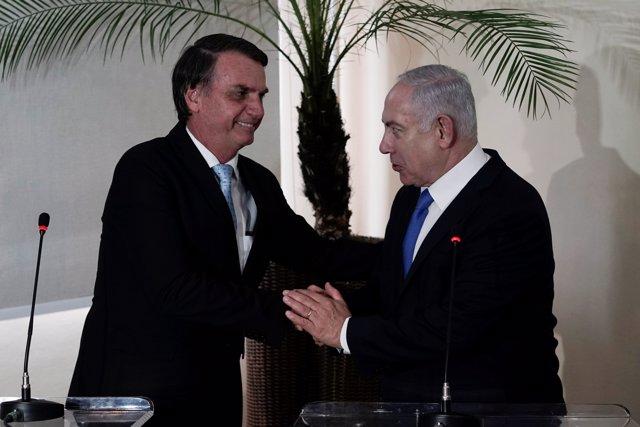 Jair Bolsonaro y Benjamin Netanyahu