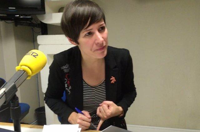 La portavoz nacional del BNG, Ana Pontón, en una entrevista para Cadena Ser