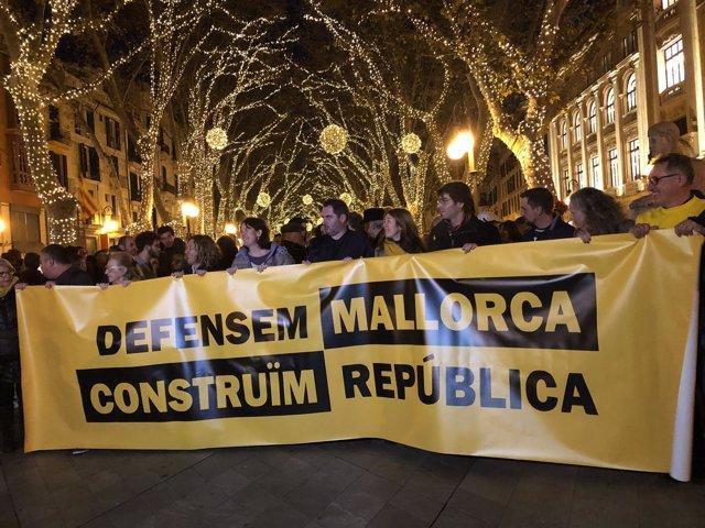 Manifestación soberanista en la Diada de Mallorca