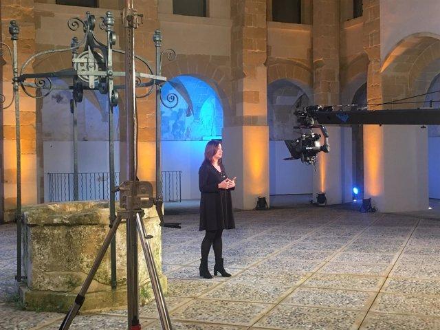 La presidenta del Govern, Francina Armengol, durante su discurso de Fin de Año