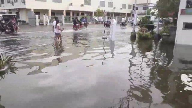 Inundaciones por el paso de la tormenta 'Usman'