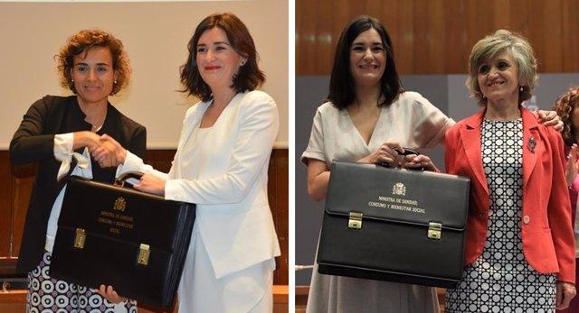 Montserrat, Montón y Carcedo, las tres ministras de Sanidad en 2018