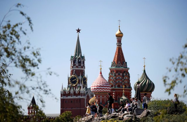 Vista de la catedral de San Basilio en Moscú