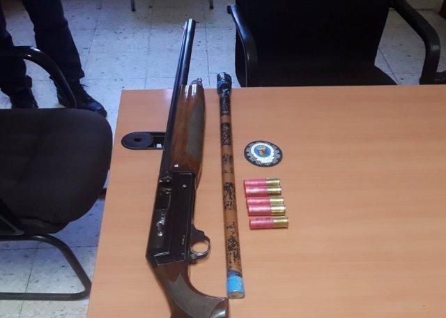 Escopeta intervenida en Badajoz
