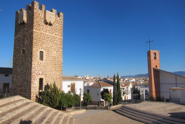 Plaza mirador Juan Cabré, en Peal de Becerro.