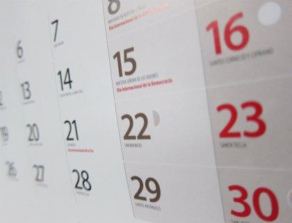 Consulta aquí el calendario de festivos para 2019