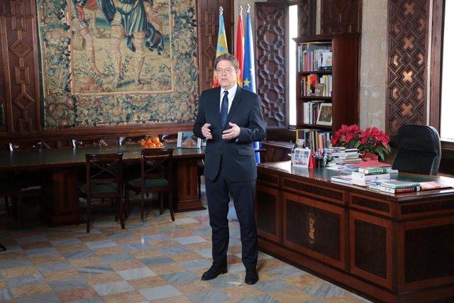 Puig en su despacho del Palau de la Generalitat