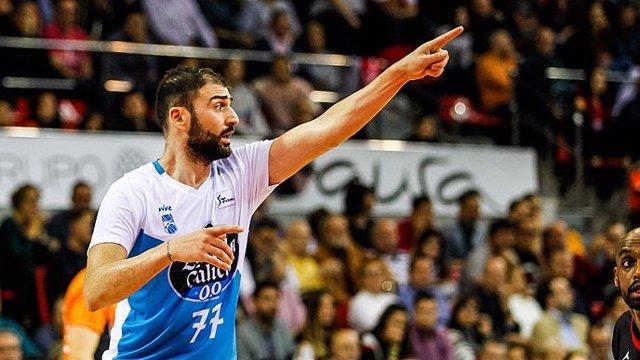 El alero griego Kostas Vasileiadis, jugador del Monbus Obradoiro