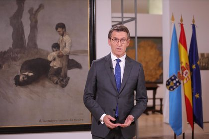"""Feijóo advierte de que Galicia """"no va a callar"""" ante los """"ataques sistemáticos"""" a la Constitución"""