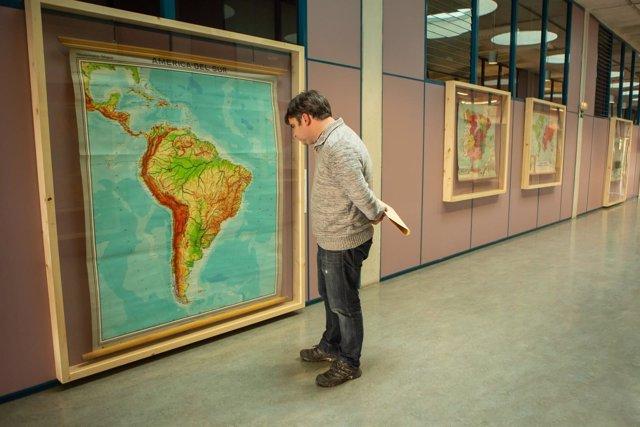 Una imagen de la exposición 'Los abuelos de Google Maps'