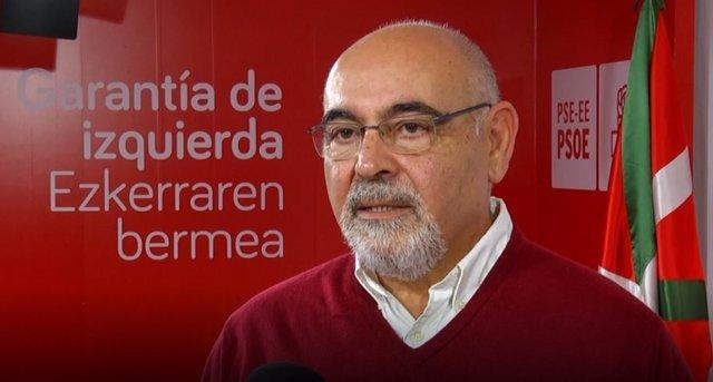 El portavoz parlamentario del PSE-EE, José Antonio Pastor
