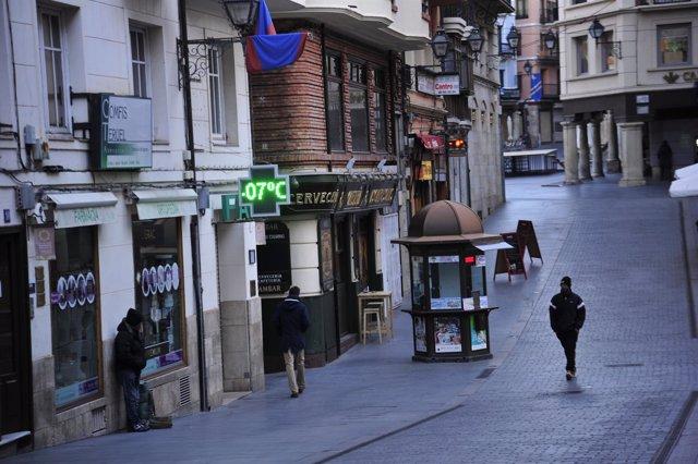 Frío en Teruel, que está a -7 grados Centígrados