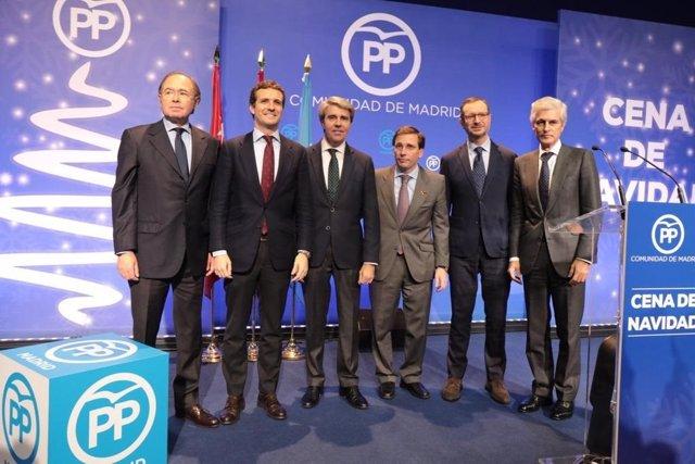 Cena del PP de Madrid con Pablo Casado