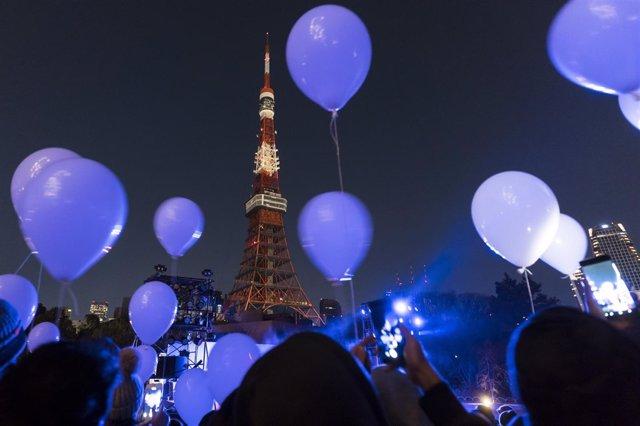 Celebración del nuevo año en Tokio