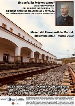 Cartel de la exposición de Cipriano Segundo Montesinos y Estrada en Madrid