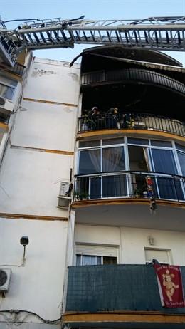 Incendio en una vivienda de Jerez