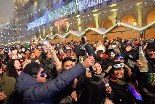 La fiesta de la plaza del Pilar se ha desarrollado con normalidad.