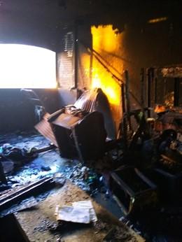 Incendio en una vivienda de Málaga capital