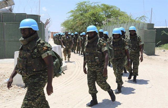 Cascos azules ugandeses en Somalia (archivo)