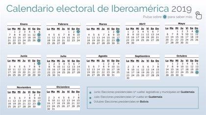 Calendario electoral de Iberoamérica en 2019